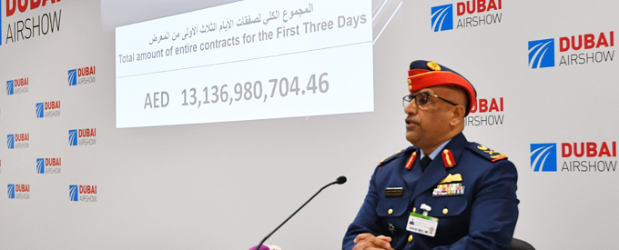 Armed Forces deals worth AED3.3 billion signed on day 3 of Dubai Airshow